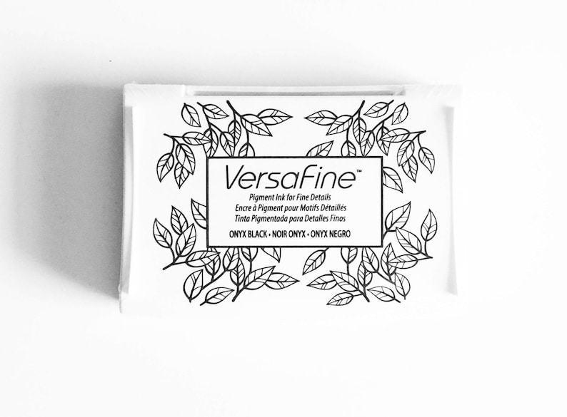 Black Ink Pad: Versafine fine detail ink image 0