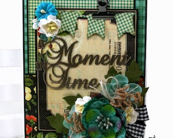 A Moment in Time Greeting Card All Occasion Polly's Paper Studio Handmade