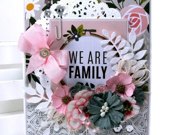 We Are Family Greeting Card Polly's Paper Studio Handmade
