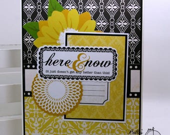 Here and Now All Occasion Greeting Card Polly's Paper Studio Handmade