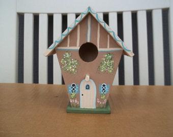 Small Tan Birdhouse #245