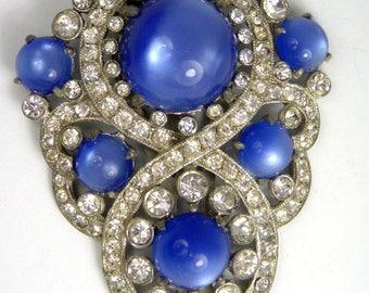 Art Deco Blue Dress Clip