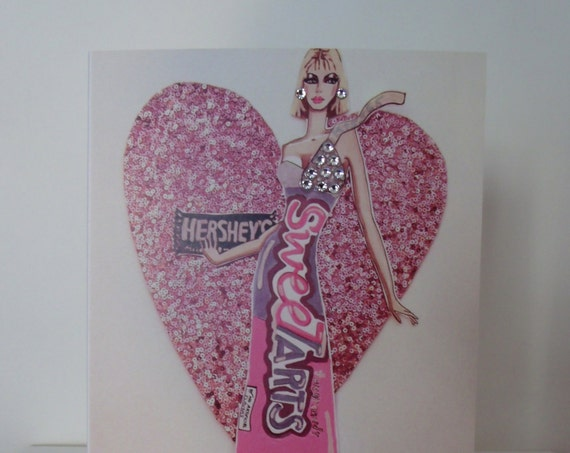 Greeting cards james thomas ryan i love candy exclusive fashion greeting card with swarovski crystals hand signed by james m4hsunfo