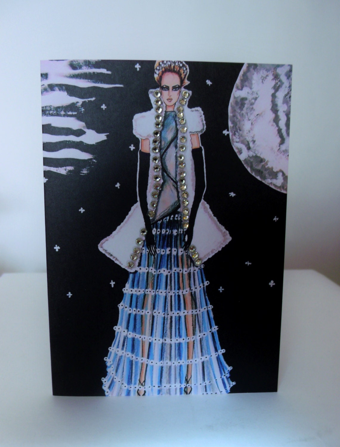 Ethereal Beauty Exclusive Greeting Card With Swarovski Crystals By