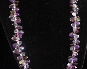 Pretty Purples Sparkle Necklace and Earrings