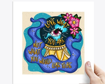 The Disaster March Love What You Are Mystic Eye Punk Lyric Art Print - Various Sizes