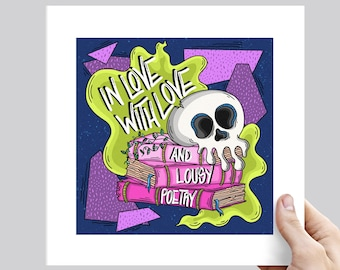 """The Weakerthans """"Aside"""" In Love with Love and Lousy Poetry Punk Lyric Art Print - Various Sizes"""