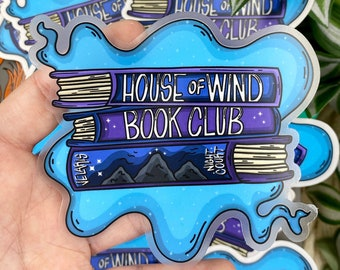 ACOTAR House of Wind Book Club Inspired Waterproof Clear 4x4 Vinyl Sticker!