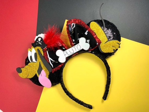 Disney Pluto Mickey/'s Dog Headband with long ears Halloween costume