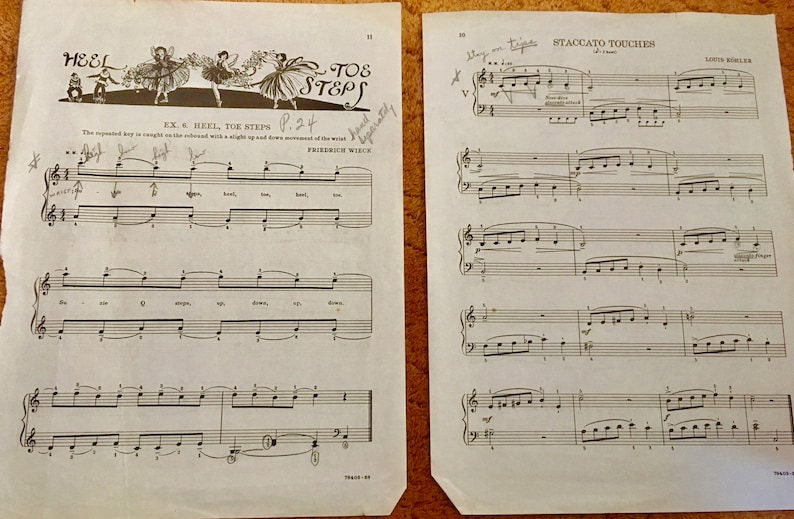 Yellowed Pages Vintage Collectibles 5 Pages Per Lot Photo Props Lot of Vintage Large Sheet Music Pages 9x12