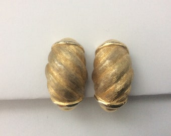 Signed Christian Dior striped, twisted, swirl Clip-on Earrings