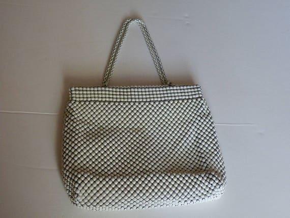 Alumesh Whiting Davis Co White Mesh metal purse. 1