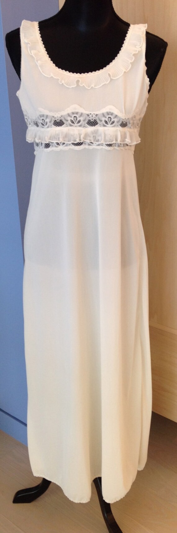 Ruffle Ivory Nightgown