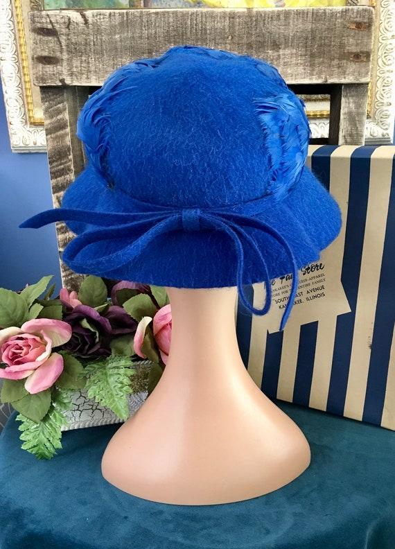 Henry Pollak Melosoie Royal Blue 1950s Hat - image 4