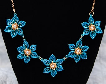 Netting Anemones Necklace, Available in 3 Colors