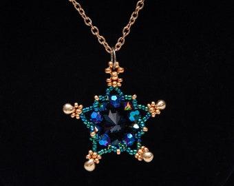 Rivoli Star Pendant, Available in 4 Colors