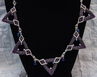 Triangles Geometric Necklace
