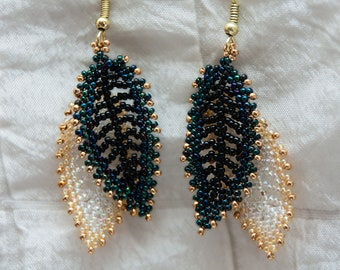 Double Russian Leaf Earrings, Available in 6 Colors (set 1)