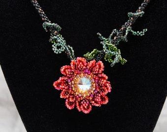 Fireflower Rivoli Necklace