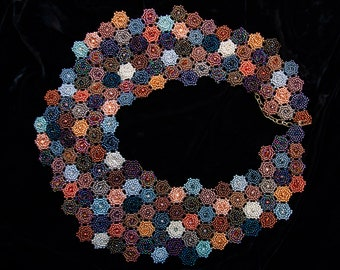 Hex Tiled Collar of Metallics