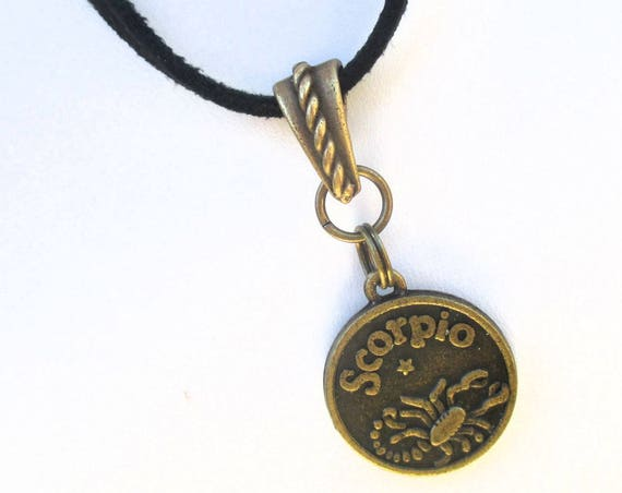 Scorpio Necklace, Zodiac Jewelry, Unisex Necklace, Astrology Jewelry, Scorpio Star Sign, Gift for Her, Gift For Him 20-1/2 to 22-1/2in