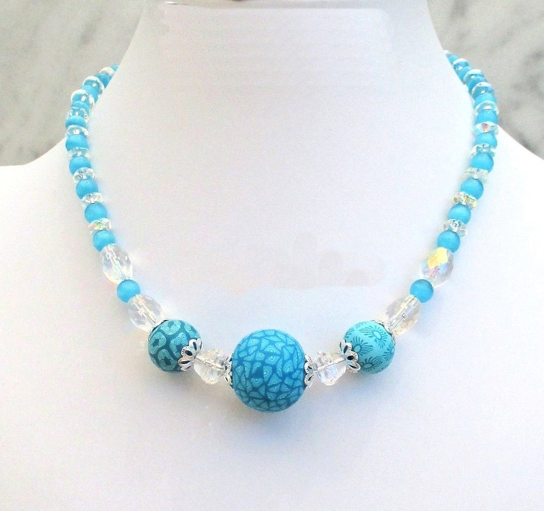 Trendy Boho Necklace for Women Turquoise Blue Jewelry Unique image 0