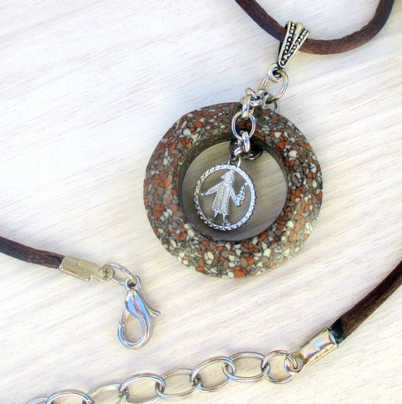 Virgo Necklace, Astrology Jewelry, Virgo Zodiac Necklace, Satin Cord Pendant Necklace, Virgo Jewelry, Virgo Gifts, One of a Kind 18-20in