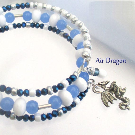 Air Dragon Bracelet, Multistrand Bracelet, Fantasy Jewelry, Year of the Dragon Jewelry, Gift for Her, Dragon Lovers Gift, One Size Fits Most