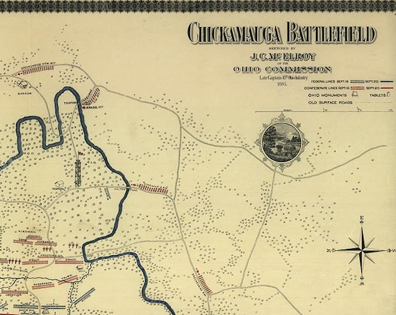 Chickamauga Battlefield 1863 (created 1895)