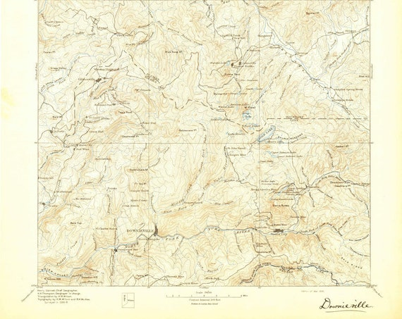 Downieville, CA USGS Topographic Map 1895