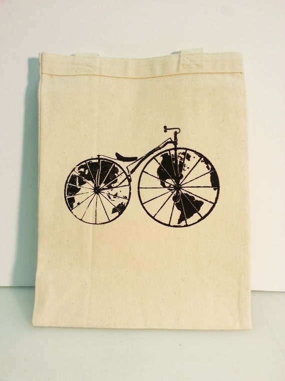 Worldshaker Bicycle Tote - Canvas/Black - Black/Gold