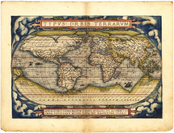 Antique World Map 1560