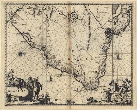 Brazil Map 1671 Brasilia