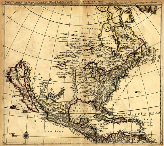 Antique Map of North America 1685