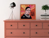 Ruth Bader Ginsburg | RBG Quotes| Giclee Canvas Wrap