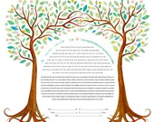 Contemporary Ketubah - Our Love Blooms #2