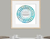 Contemporary Ketubah - Lace of Love | Water