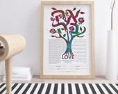 Contemporary Tree of life in LOVE