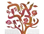 Contemporary Tree of life in LOVE in Fall colors