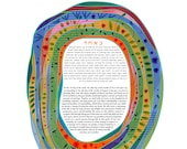 Contemporary Modern Ketubah - Growing Together