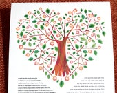 Contemporary Traditional Ketubah - My Heart is filled with Love