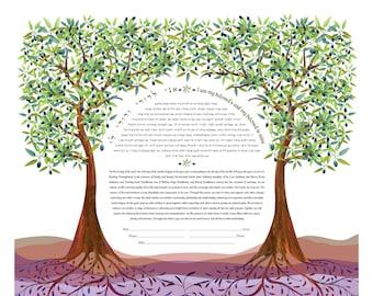 Ketubah - Olive Trees of Life