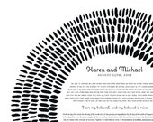Contemporary Ketubah - Woven Dreams | Black and White | Minimal | Interfaith