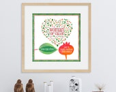 Woman of Valor, Eishet Chail, Heart filled with Pomegranates, Giclee print