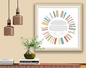 Ketubah Typographic Rainbow I am My Beloved's Contemporary