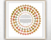 Contemporary Ketubah - Lace of Love Autumn #2