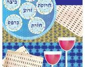 Passover symbols Art digital download