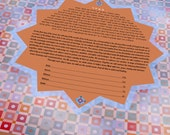 Ketubah - Morocco shimmers in terracotta