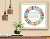 Ketubah Typographic I am My Beloved's Contemporary