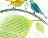 Ketubah - Love Birds in Y...
